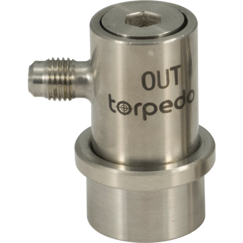 Torpedo Ball Lock Beverage Out - Flared Stainless